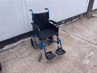 wheelchair light weight blue
