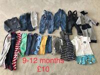 Boys clothing bundle age 9-12months