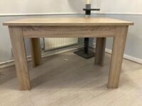 Next oak effect dining table