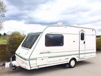 Abbey County 2 Berth Caravan With Motor Mover - Lightweight Caravan - 2000 Model