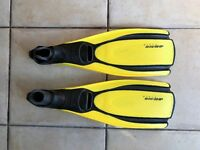 Mares Cl heel plana Avanti HP Yellow scuba diving fins