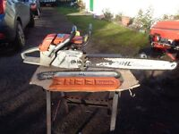 """Petrol chainsaw Stihl 038 av Super 24"""" & 16"""" bars and chains, postage available."""