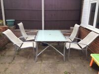 Garden Dinning Table & Chairs