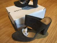 New Warehouse Suede Mules size 5