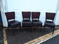 x4 dining chairs for refurbishment/upcycle - can deliver