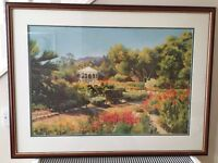 Painting - Garden Scene print 35 inches by 25 inches