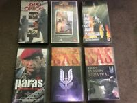 VHS Video Tapes – Military / SAS / Paras / Survival / Special Forces