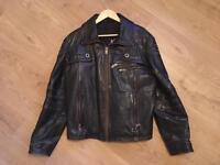 Leather bomber jacket size M