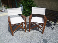 """2x fold up garden chairs """"new"""" £20"""