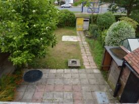 2 bed house 200 yards to shops and station, street parking
