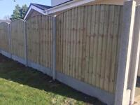 🌎Excellent Quality BowTop Feather Edge New Fence Panels