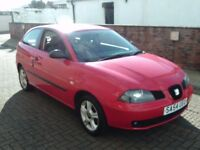 2004 54 SEAT IBIZA 1.2 SX 3 DOOR ** ONLY 43500 MILES ** MOT SEPTEMBER 2018 ** ONE OWNER **