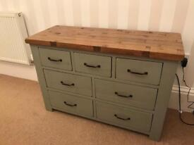 Solid Oak Side bored and two matching units