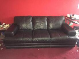 REAL LEATHER SOFA (QUICK SALE)
