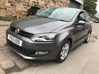 2013 VOLKSWAGEN POLO 1.2 MATCH EDITION PETROL 5 DOOR 32K MILEAGE NEW MOT BLUETOOTH - BARGAIN PRICE