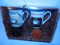 Amaretto & Cappuccino gift set mugs & candles