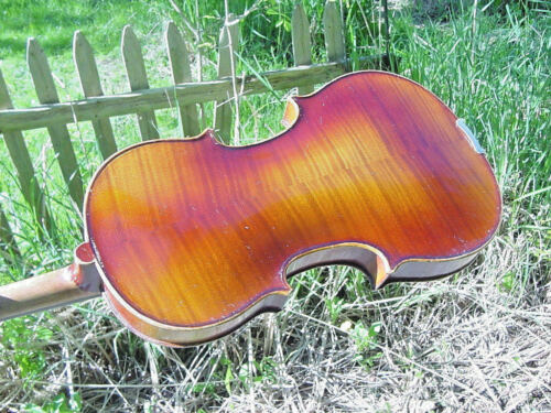 VINTAGE GERMAN VIOLIN 1713 STRADIVARIUS W CASE BOW