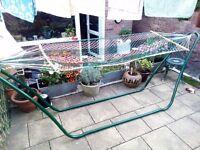 Garden Hammock w/ Freestanding Easy Assemble Frame - Boxed - Unused