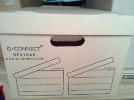 Q-Connect Brown Storage Box 335x400x250mm pack of 10