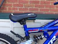 Dual suspension 6 gear 18inch mountain bike