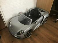 Rollplay porsche 918 spyder battery powered car