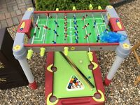 Smoby Table Football and Pool Table for sale