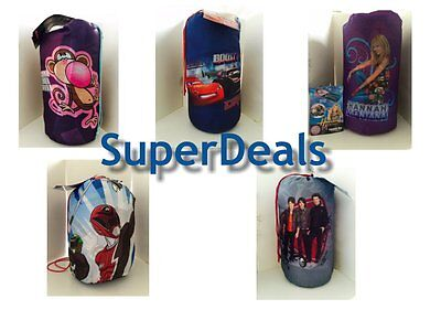 Disney Kids Character Slumber Bag - Boys and Girls Sleeping Bags - Kids Character Sleeping Bags
