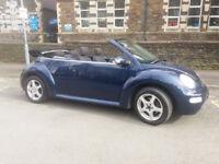 2005(05)VW BEETLE 1.9 TDi CONVERTIBLE MET BLUE,LOW MILES,ELECTRIC ROOF,CLEAN CAR,GREAT VALUE
