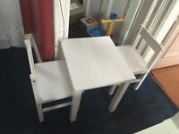 Kids 2 chairs and table set
