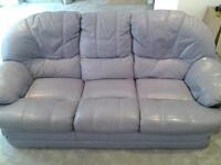 2 x leather sofa's