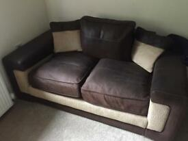 Lovely swede and soft material 2 seater sofa bargain £80ovno
