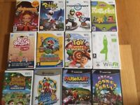 9 x wii games, 3 x gamecube games