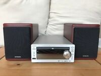 HITACHI AX-M910 DVD CD MP3 USB AMPLIFIER RADIO & SPEAKERS