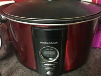 Red Slow cooker and recipe book