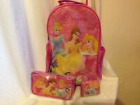Girls new Disney princess wheeled suitcase