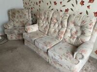3 seater and chair free of charge collection only