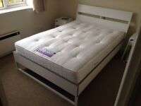 Double Bed Ikea Trysil + Sealy Posturepedic Backcare Extra-Firm Mattress - IN EXCELLENT CONDITION