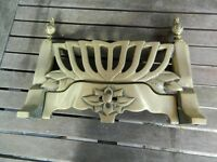 VINTAGE Solid Brass Fire Grate Fender for Hearth in open fireplace.