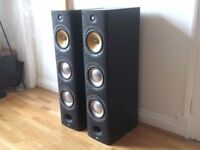 pair of Bowers and Wilkins B&W DM604 S3 floor standing Speakers in Sorrento silver 604 603 605 £400