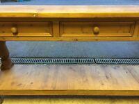 Used pine sideboard