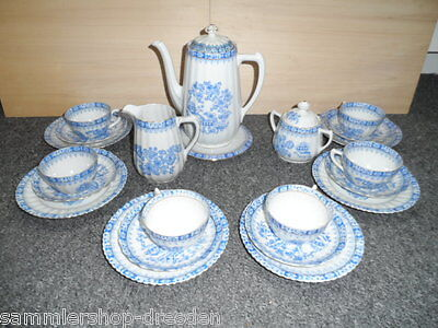 19115 China Blau Schaller Bavaria Kaffeeservice  6 Personen Gebäckschale Teller