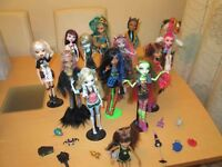 selection of 14 monster high dolls