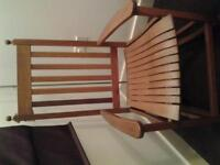 wooden rocking chair, Hardly used, great condition.