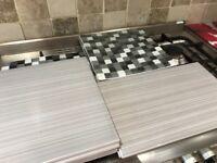 Job lot of bathroom grey tiles