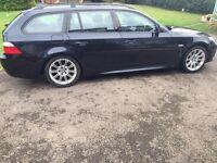BMW 5 SERIES 2.0 520d M Sport Business Edition Touring Manual Black. *Leather*Nav*New MOT & Service.