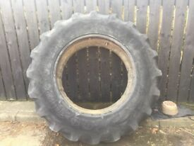Two good year tractor tyres and tubes 16-9-34