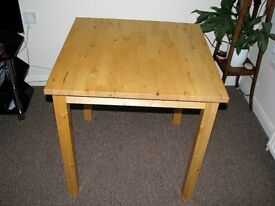 solid/heavy IKEA wooden/plne square dining/kitchen table