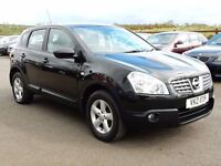 2008 nissan qashqai 1.5 dci acenta, low miles, motd april 2018 all cards welcome