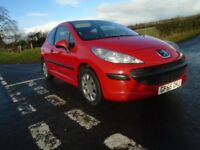 06 peugeot 207 1.4 hdi t diesel 3 dr red g condition yrs mot l ins£30 tx