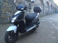 2013 SYM Jet4 125cc learner legal 125 cc scooter. 1 Years MOT. Looks and runs great. Low miles.